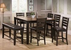 Crown Mark Counter Height Table The Elliott Set At Local Furniture Outlet Would Be A Great Item To Purchase In Austin