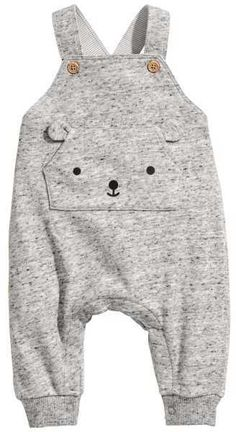 Cute grey bear face kids overalls H&M Bib Overalls #affiliate (I will receive a small commission if you click this link)