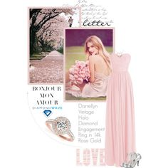 diamondwave.com by isatusia on Polyvore featuring moda, Whiteley, vintage and diamondwave Fashion Rings, Diamond Engagement Rings, Halo, Gallery Wall, Waves, Rose, Polyvore, Vintage, Style