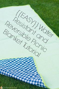 This is an easy reversible and water proof picnic blanket tutorial that is a great beginner's sewing project. It's really fun to have during the summer for picnics!