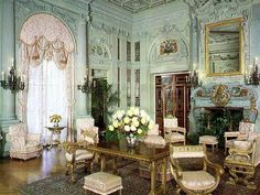 Morning Room at The Breakers Vanderbilt Mansion at Newport RI by graceandglib, via Flickr