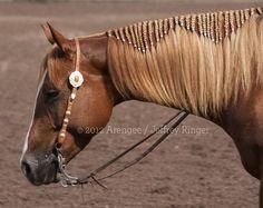 Love this braid and bead idea