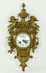French Brass Wall Clock April 26th Estate Auction | Kaminski Auctions