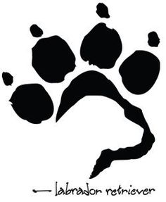 paw print with lab head inside