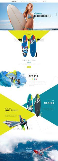 Creative TRAVEL website template #INSPIRATION