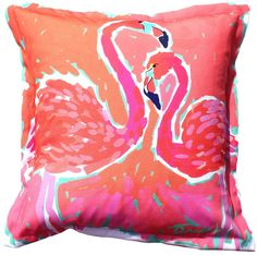 Biscayne Bay Flamingos Indoor Outdoor Pillow: Beach House Pillows, Coastal Home Pillows, Lake Cottage Pillows, Ocean Pillows Beach Cottage Decor, Coastal Decor, Lake Cottage, Coastal Cottage, Nautical Pillows, Dream Beach Houses, Tropical Decor, Designer Pillow, Coastal Homes