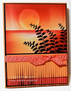 Peach Watermelon Sunset card created by Michelle Zindorf using Stampin' Up! products - Butterfly Basics Stamp set