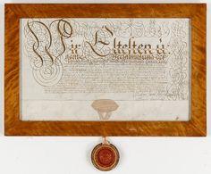 LÄKARBREV med SIGILL, daterat 1700, Wilda, Litauen.