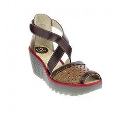 FLY London Womens Ynes Wedge #sandal #wedge #womens Fly London, Wedge Sandal, Wedges, Sandals, Stuff To Buy, Shoes, Women, Fashion, Moda