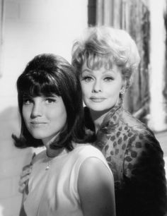 Mother and daughter  Lucille Ball and her daughter, Lucie Arnaz, pose for a portrait on October 27, 1965. by kellie