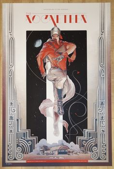 """""""The Rocketeer"""" - variant silkscreen movie poster (click image for more detail) Artist: Martin Ansin Venue: Marchesa Theater Location: Austin, TX Date: 10/4/2015 Size: 24"""" x 36"""" Edition: artist editio"""