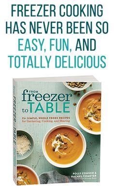 image of freezer meal cookbook