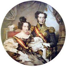 D.Pedro I e sua filha Maria(Rainha Maria II de Portugal)