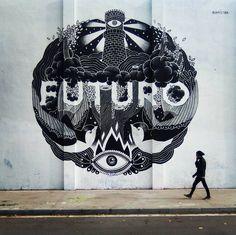 """futuro con f, de fulano, de @feralcala  @boamistura #boamistura #streetart #arteurbano #urbanart #graffiti #street #streetphoto #streetphotography…"""