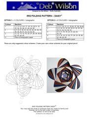 View Daisy Iris Folding pattern Details