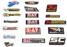 3M yoshimura stickers leovince  AKRAPOVIC  Motorcycle Exhaust Pipes Decal