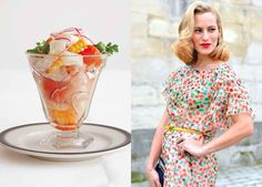 food and fashion photo collage