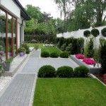 Ogród geometryczny - Tajemniczy Ogród Modern Garden Design, Sidewalk, Layout, Landscape, Gardens, Landscape Planner, Garden Design Ideas, Deco, Scenery