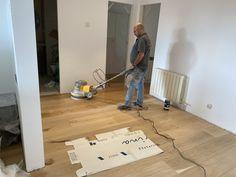 Parquet multicapa de roble, 24 de ancho encolado al suelo y acabado al aceite. Rubio Monocoat Home Appliances, Wood Flooring, Oak Tree, Oil, House Appliances, Appliances