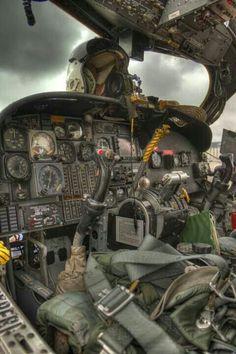 """This was labeled by the original poster as """"cockpit of the iconic Huey helicopter"""", which it certainly is not. It is a great photo of an Mohawk cockpit, however. I've been in a Huey helicopter! Military Helicopter, Military Aircraft, Helicopter Pilots, Helicopter Cockpit, Flight Deck, War Machine, Vietnam War, Armed Forces, Military Vehicles"""