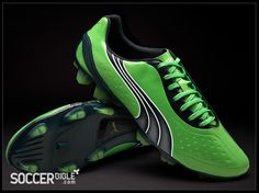 Puma V1.11 SL Football Boots – Green Navy White - Football Boots f4f07be751e6c