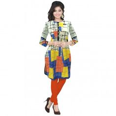 Kurtis - Buy Designer Kurti Online For Women Off - IndiaRush Girls Kurti, Ethnic Kurti, Absolutely Gorgeous, Indian, Printed, Cotton, Stuff To Buy, Collection, Dresses