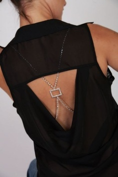 Mid-Back Rectangle Bra Straps ~ looks amazing under a backless Blouses <3