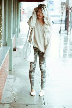 I usually really dislike camo, but this outfit is adorable.