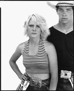 Heidi Hamilton and Gordy Bray, rodeo contestants, Douglas, Wyoming, July 28, 1981