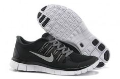 Nike Free 5.0+ Womens Black Gray Running Shoes
