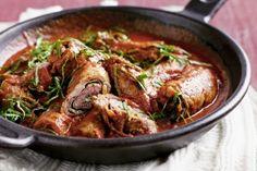 Beef braciole (Italian beef rolls)