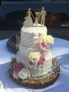 Wedding cake made for The pregnant brides I DO BBQ