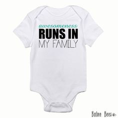 Awesomeness Funny Baby Clothes Cute Trendy Toddler by BabeeBees, $15.00