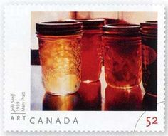 Art by Mary Pratt which has been made into a stamp