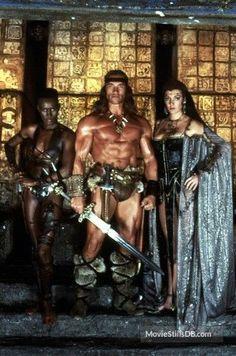 Conan The Destroyer - Movie stills and photos Fantasy Heroes, Fantasy Art Men, Fantasy Warrior, Fantasy Rpg, Cebu, Conan O Barbaro, Sarah Douglas, Science Fiction, Movie Posters