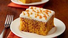 Pumpkin-Caramel Poke Cake