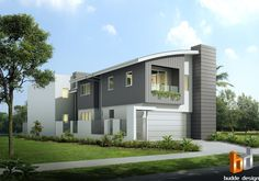 3D External Artist Impression by Budde Design for design and colour selection purposes Townsville QLD Australia Beach House, modern home, Canal house Australia's Leading 3D Architectural Visualisation and Rendering Company specialising in 3D Architectural Visualisation - 3D Architectural Rendering - Artist Impressions - 3D Rendering - 3D floor plans - 2D colour Floor Plan illustrations
