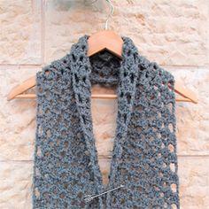 crochet chunky lace scarf