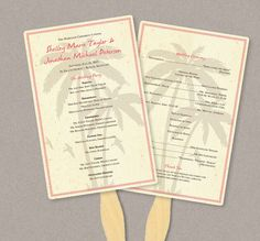 Fan Program Template Starfish Aqua Diy Wedding Order Of Ceremony