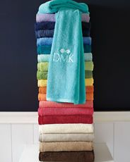 Garnet Hill Signature Towels. Monogram it.
