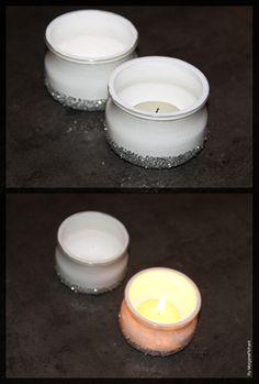 que faire avec des pots de yaourt en verre des. Black Bedroom Furniture Sets. Home Design Ideas