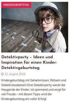 Detektivparty – Ideen und Inspiration für einen Kinder- DetektivgeburtstagKindergeburtstag  mit Geheimnissen, Rätseln und Detektivbasteleien! Eine Detektivparty  weckt die Neugierde der Kinder, ist spannend und sorgt für viel Freude –  mit diesen Tipps wird der Kindergeburtstag ein voller Erfolg! Grape Vines, Tips, Inspiration, Montessori, Scavenger Hunt Kids, Kids Birthday Games, Handy Tips, Kid Birthdays, Funny