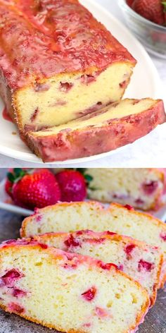 Cheesy Recipes, Sweet Recipes, Pound Cake With Strawberries, Pound Cake Strawberry, Recipes With Strawberries, Frozen Strawberry Recipes, Strawberry Cake From Scratch, Strawberry Desserts, Pound Cake Recipes