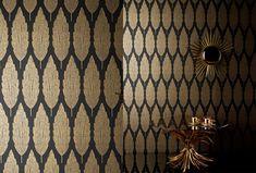 Nina Campbell Perroquet Cypres Gold and Black - NCW3834/03 Wallpaper