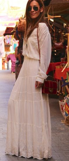 Boho maxi,   If I could pull it off, too bad that's not happening