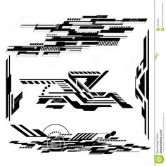 Illustration about Various Technological futurisitic contemporary shapes. Illustration of graphic, dynamic, pattern - 49002628 Tech Tattoo, Tatoo Art, Body Art Tattoos, Circuit Tattoo, Tatto Skull, Cyberpunk Tattoo, Images Alphabet, Architecture Concept Drawings, Geniale Tattoos