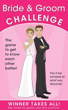This book is too cute! A great way to see who really knows best! Bride & Groom Challenge: The Game of Who Knows Who Better (Winner Takes All) - Alex A. Lluch - Google Books