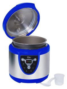 Elite Platinum - 24-Cup Digital Electronic Pressure Cooker - Blue, EPC-607BL