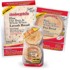 JOSEPH'S LAVASH Bread just makes me smile!  Reduced CARBs, Oat Bran, Whole Wheat, No Cholesterol, High Protein, Some with Omega3, Heart Healthy .... I say the perfect food for a feisty Italian, (namely me), that DEMANDS her bread fix, without the guilt!!  Ahhhh!!