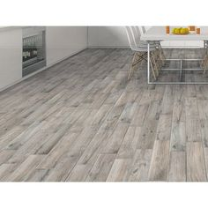 Hard Gray Wood Plank Porcelain Tile - 6in. x 24in. - 100198712 | Floor and Decor
